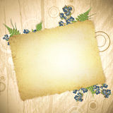 Vintage grunge paper at wooden background Royalty Free Stock Photography