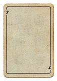 Vintage and grunge playing card paper empty background Stock Photography