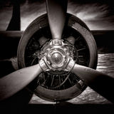 Vintage Grunge Propeller Aircraft Plane Engine Royalty Free Stock Photos