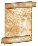 Vintage grunge rolled parchment Royalty Free Stock Photos