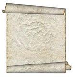 Vintage grunge rolled parchment Stock Images
