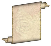 Vintage grunge rolled parchment Royalty Free Stock Photography