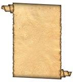 Vintage grunge rolled parchment Stock Image