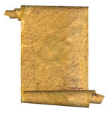 Vintage grunge rolled parchment illustration Stock Image