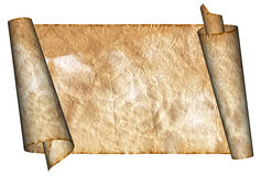 Vintage grunge rolled parchment illustration Royalty Free Stock Images