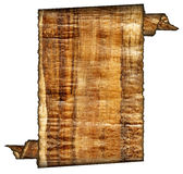 Vintage grunge rolled parchment illustration Royalty Free Stock Image
