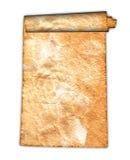 Vintage grunge rolled parchment illustration Stock Photography