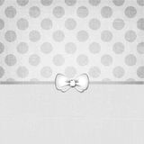 Vintage Grunge Dots Background Soft grey 120. Vintage grunge shabby background with dots and a cute bow royalty free stock photos