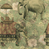 Vintage grunge style seamless pattern with indian Royalty Free Stock Images