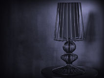 Vintage grunge table lamp. With black shade lamp abat-jour Royalty Free Stock Image