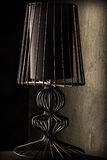 Vintage grunge table lamp. With black shade lamp abat-jour Stock Photography
