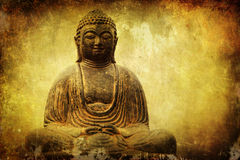 Buddha figure with attractive texture Stock Photography