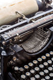 Vintage grunge typewriter closeup image Stock Photos