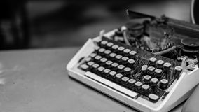 Vintage Grunge Typewriter On Table stock photo