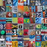 Vintage & grunge urban patchwork royalty free stock image