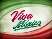 Vintage grunge viva mexico poster Royalty Free Stock Photos