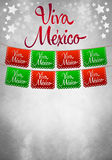 Vintage grunge viva mexico poster  - card template. Vintage Mexican poster - card template - copy space Royalty Free Stock Image