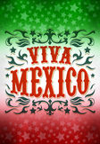 Vintage grunge viva mexico poster Stock Photography