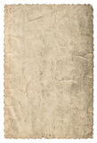 Vintage grungy cardboard with edges. Used paper texture Stock Images