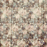Vintage grungy flowers and wood grain background design vector illustration