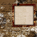 Vintage grungy frame Stock Images