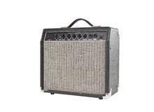 Vintage Grungy Guitar Amplifier Stock Image