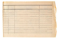 Vintage grungy lined paper royalty free stock images