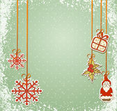 Vintage, grungy New Year, Christmas background Stock Image