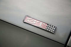 Vintage GT logo. On a car in England Stock Images