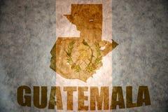 Vintage guatemala map Stock Photo