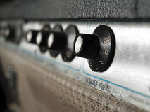 Vintage  guitar amplifier closeup Royalty Free Stock Photos