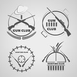 Vintage  gun club labels emblems and design elements eps 10 Royalty Free Stock Images