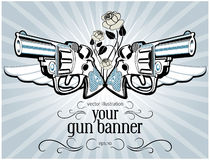 Vintage gun label. In Royalty Free Stock Image