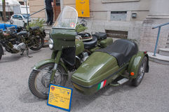 Vintage Guzzi sidecar Royalty Free Stock Images