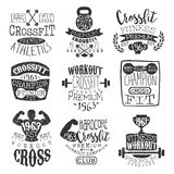 Vintage Gym Fitness Stamp Set Royalty Free Stock Photos