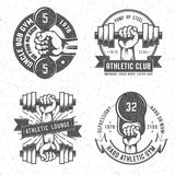 Vintage gym logo Royalty Free Stock Photography