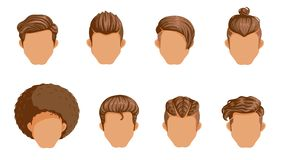 Vintage Hairstyles. Retro Hairstyle Men. male retro hair. Mohawk Hair, Hairstyles dating rock, Hairdo, skinhead. The classic and trendy. salon hairstyles for vector illustration