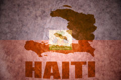Vintage haiti map Royalty Free Stock Images
