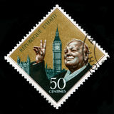 Vintage Haiti Postage Stamp With Portrait of Winston Churchill Royalty Free Stock Image