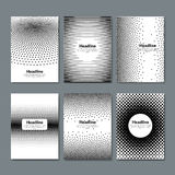 Vintage halftone grunge textured brochures and flyers. Black and White halftone Patterns.  Royalty Free Stock Photography