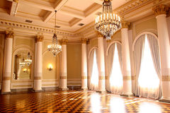 vintage hall with curtain in hotel Stock Images