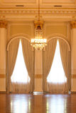 Vintage hall with curtain in hotel Stock Photography