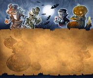 Vintage halloween background Stock Photo
