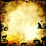 Vintage halloween frame background or texture Stock Photos