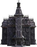Vintage Halloween Haunted House, Isolated