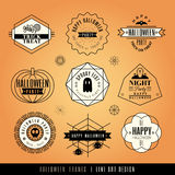Vintage Halloween labels and frames Stock Photography