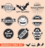 Vintage Halloween Labels and Stickers. Collection of vintage style Halloween labels and stickers Royalty Free Stock Photos