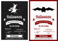 Vintage Halloween party flyer Royalty Free Stock Photography