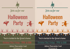 Vintage Halloween party flyer Royalty Free Stock Photo
