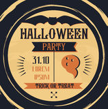 Vintage Halloween poster with with the bat Royalty Free Stock Photography